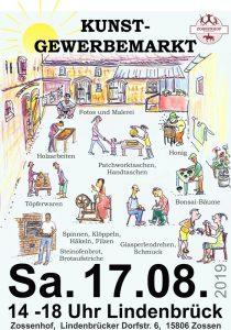 Zossenhofer Kunstgewerbemarkt am 17.08.2019