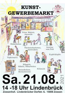 Zossenhofer Kunstgewerbemarkt 2021 in Lindenbrück am 21.08.21